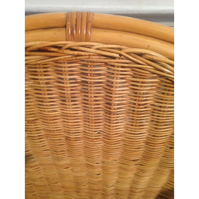 Retro Wicker Metal Leg Chair For Sale In Greensboro - Image 6 of 7