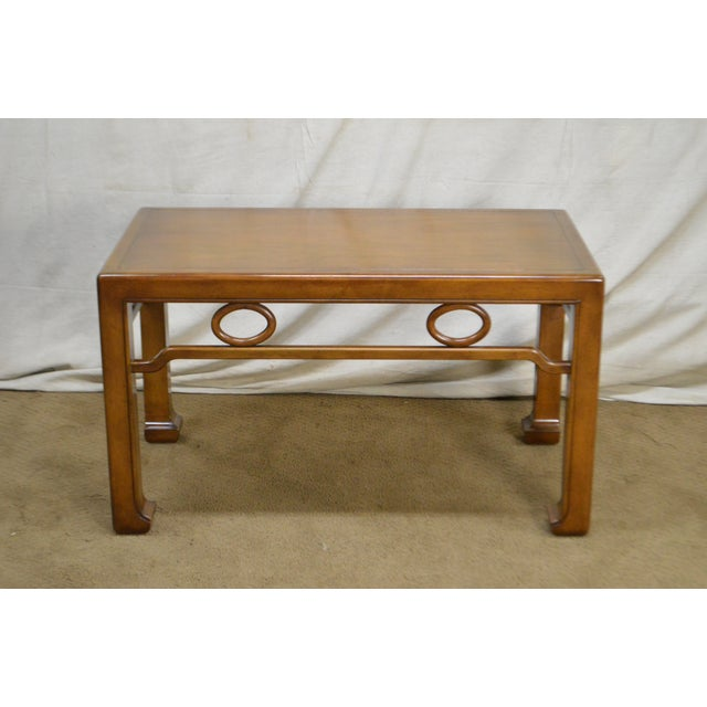 James Mont Mid-Century Modern James Mont Style Asian Influenced Side Table For Sale - Image 4 of 13