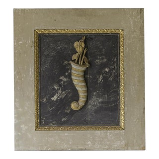 """""""Cornucopia"""", Painted, Gilded, Carved Symbol of Abundance, Italy c.1780 For Sale"""