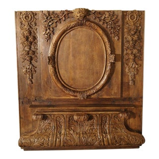 Exceptional 18th Century Oak Boiserie Panel From Chateau Saint-Maclou, Normandy France For Sale