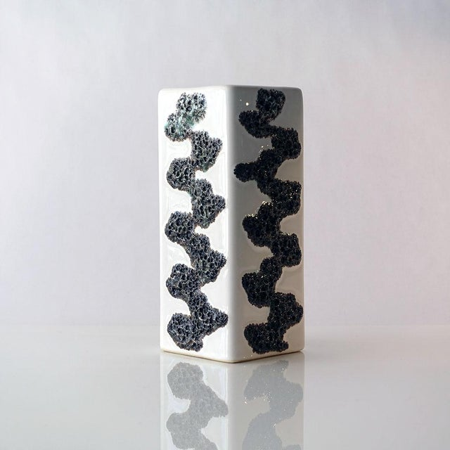 Abstract Fohr Keramik West German Fat Lava Vase For Sale - Image 3 of 9