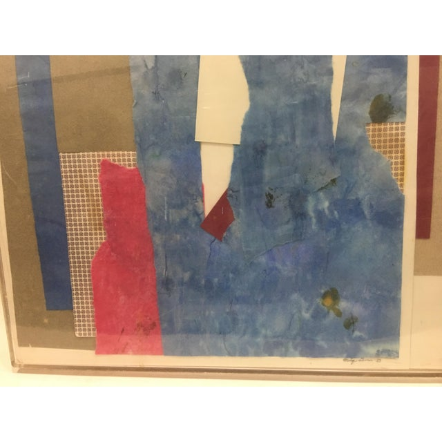 Paper 1983 Abstract Collage Signed Mitzi Levin For Sale - Image 7 of 10