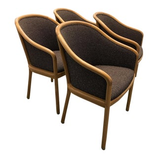 "Ward Bennett for Brickel Associates (Now Geiger) ""Landmark Chair"" From Herman Miller - Set of 4"
