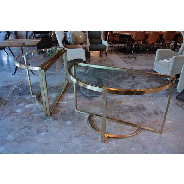 Romeo Rega 1970 Romeo Rega Brass Oval or Round Dining Table For Sale - Image 4 of 9
