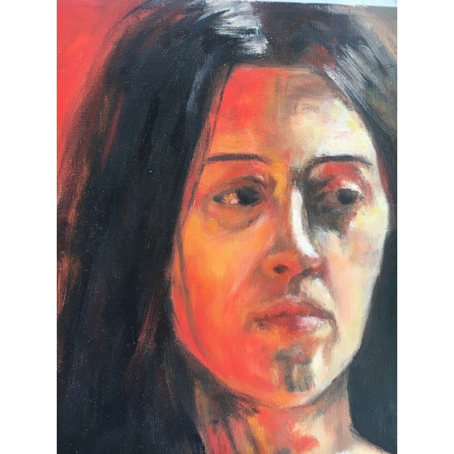 Contemporary Sara Caruso Portrait Painting For Sale - Image 3 of 8
