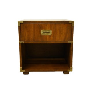 Henredon Furniture Campaign Style Nighstand For Sale