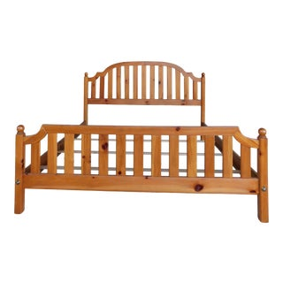 Ethan Allen Farmhouse Pine King Size Bed 23-5620 For Sale