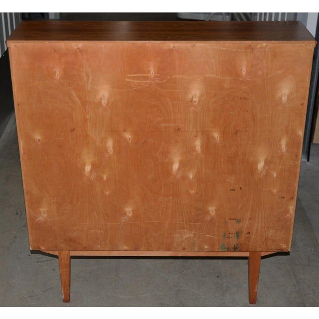 Rosewood Danish Mid Century Modern Rosewood Cylinder Desk C.1960s Made in Sweden by Ostergaard For Sale - Image 7 of 8