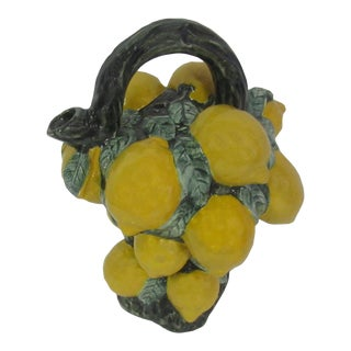 French Majolica Lemon Pitcher For Sale
