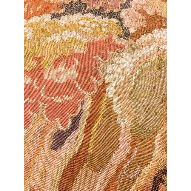 """Traditional Antique Old World Hunting Tapestry, Circa 1900, 4'10"""" X 6'5"""" For Sale - Image 3 of 11"""