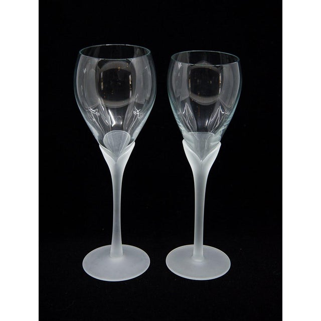 "Art Nouveau Vintage Mikasa ""Alexandra"" Crystal Tulip Champagne Glasses - Set of 12 For Sale - Image 3 of 8"