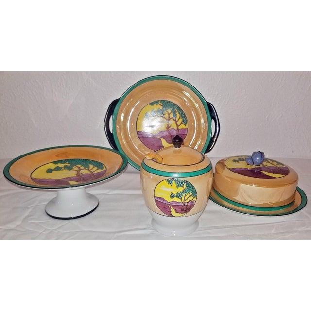 Vintage Noritake Deco 4 Piece Set For Sale - Image 11 of 13