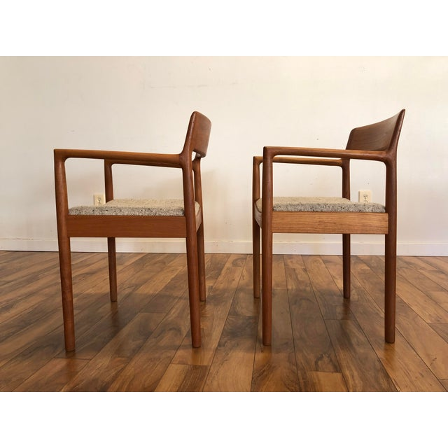 Mid-Century Norgaard Teak Arm Chairs, Made in Denmark, a Pair For Sale In Seattle - Image 6 of 13