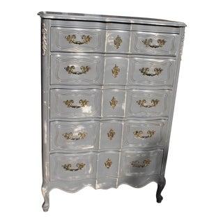 Gray French 5-Drawer Dresser