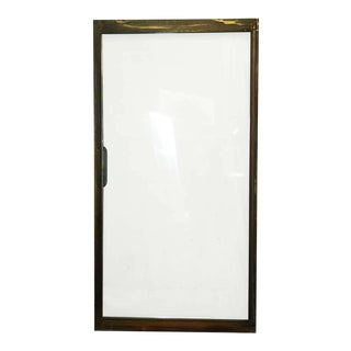 Mid-Century Brass Frame Sliding Doors For Sale