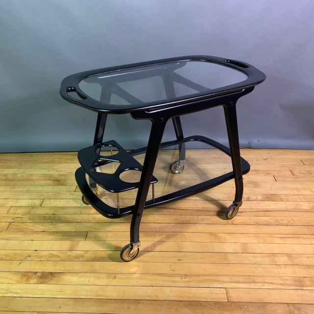 Ico Parisi 1955 Ebonized Mahogany Bar Cart, Italy For Sale - Image 11 of 11