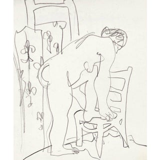 'Après Le Bain' by Victor DI Gesu, Chouinard Art School, California Post-Impressionist, Los Angeles County Museum of Art For Sale