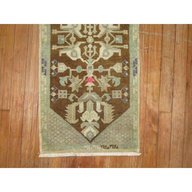 Hollywood Regency Vintage Turkish Rug - 1'5'' x 3'1'' For Sale - Image 3 of 3