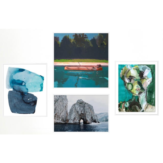 Blue Vitamin Sea Gallery Wall, Set of 4 For Sale - Image 8 of 8