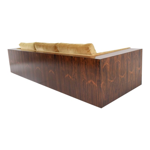 Milo Baughman for Thayer Coggin Rosewood Case Sofa For Sale