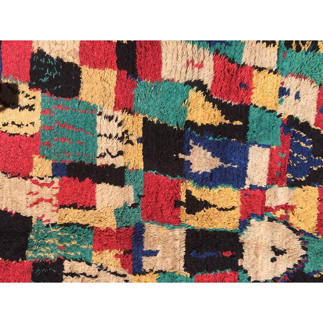 Vintage Multi Colored Moroccan Azilal Rug