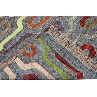 21st Century Turkish Flat-Weave Rug Preview