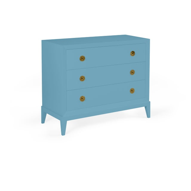 Transitional Casa Cosima Hayes Chest, Colonial Blue For Sale - Image 3 of 3