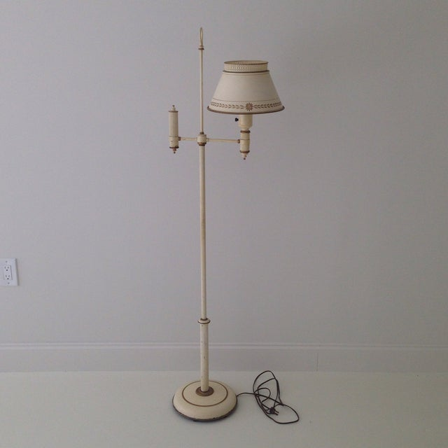 Off-White Tole Floor Lamp - Image 11 of 11