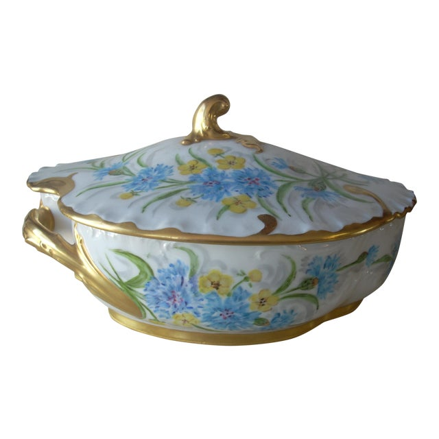 1930s Limoges Covered Serving Dish For Sale
