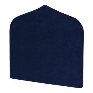 The Crown Headboard - Queen - Charlotte - Luxe Velvet, Prussian Blue For Sale