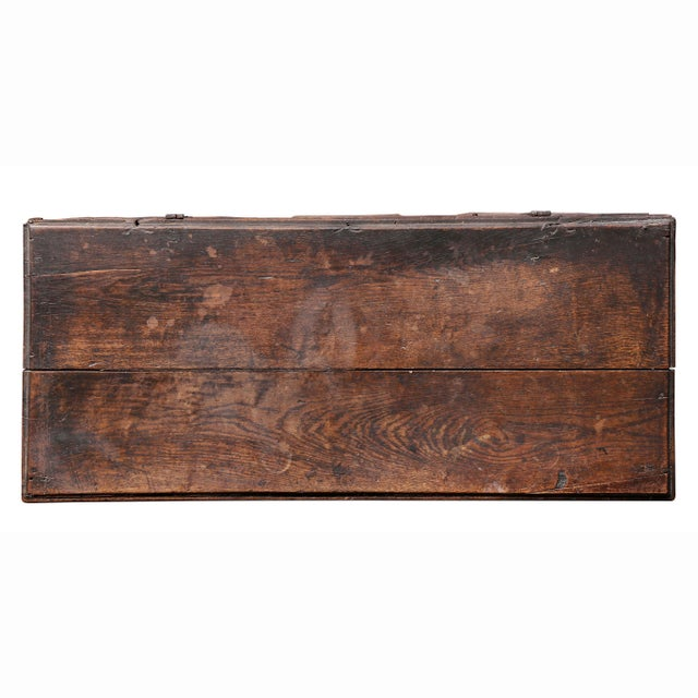 English Traditional Charles II Oak Coffer For Sale - Image 3 of 12