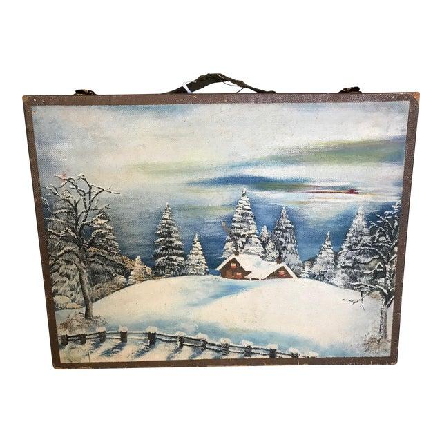Vintage Wooden Artist's Box For Sale