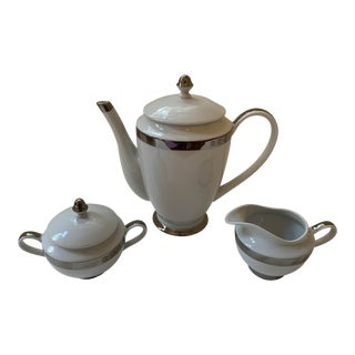 Ralph Lauren Academy Platinum Coffee Set - Set of 3 For Sale
