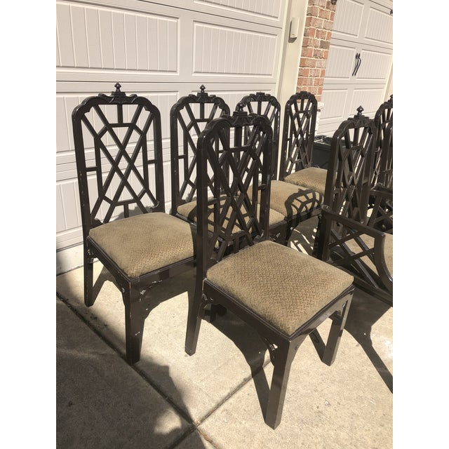 Late 20th Century Chinese Chippendale Dining Chairs by Century Furniture- Set of 8 For Sale In Chicago - Image 6 of 7