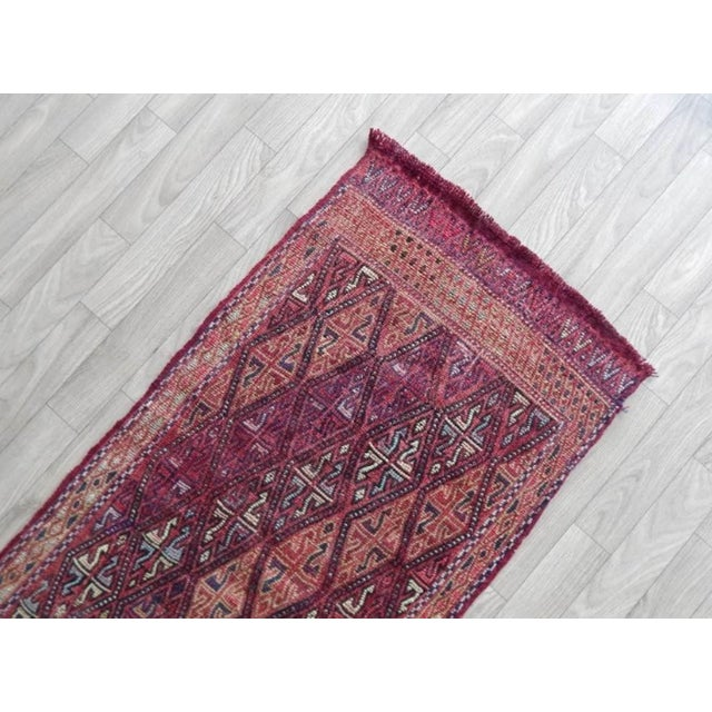 Masterwork Hand-Woven Rug Braided Small Kilim 1′8″ × 3′3″ For Sale - Image 4 of 6