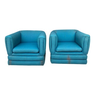 Pair Tubular Swivel Chairs For Sale