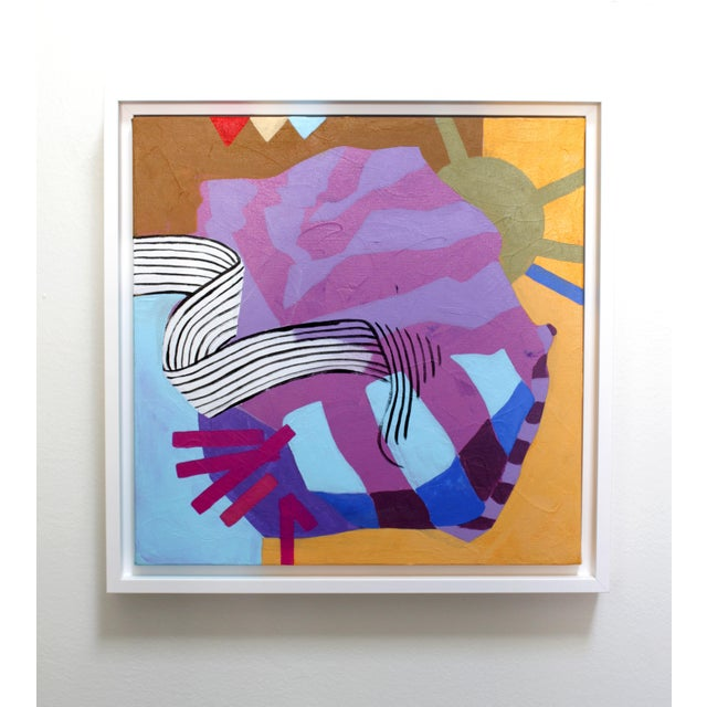 2010s Angela Chrusciaki Blehm Lilac Knot Contemporary Painting For Sale - Image 5 of 5