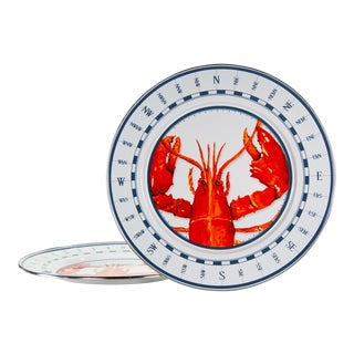 Charger Plates Lobster - Set of 2 For Sale
