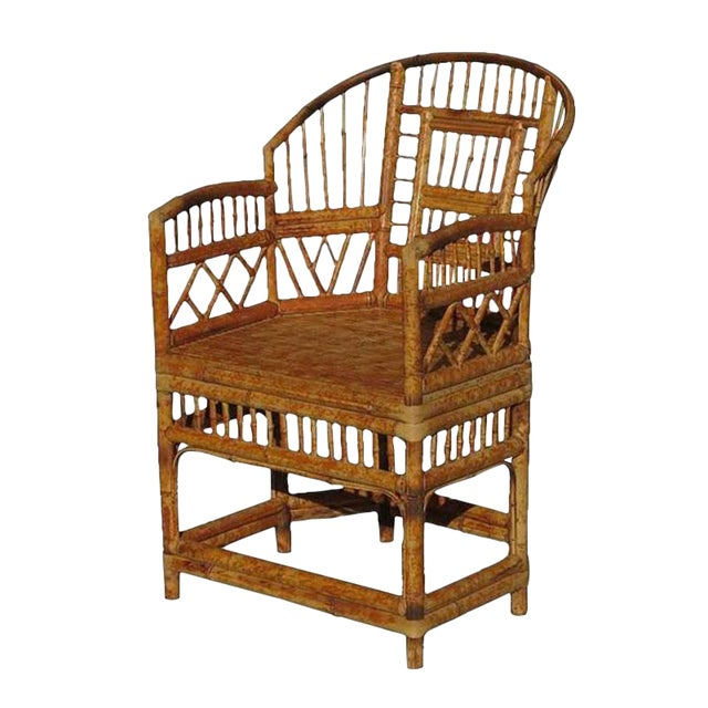 """""""Brighton"""" Tiger Bamboo Armchair For Sale"""