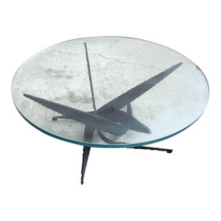 Brutalist Coffee Table by Silas Seandel For Sale