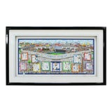 Image of Contemporary Framed Yankee Stadium 3d Serigraph Signed Charles Fazzino 241/500 For Sale