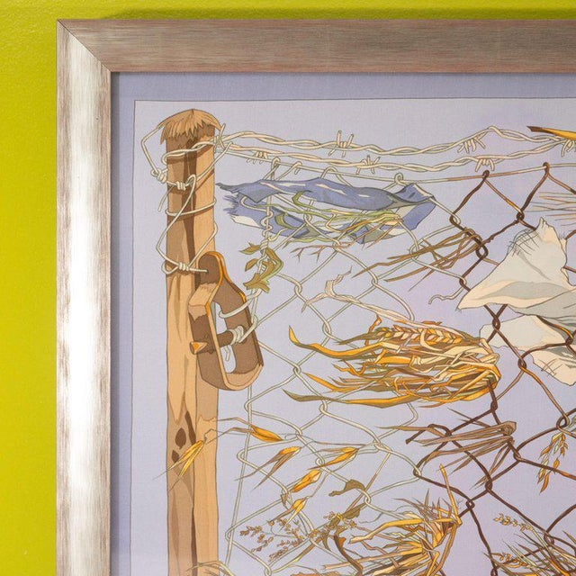 "1960s 1960s ""Grand Vent"" Framed Hermes Scarf For Sale - Image 5 of 7"