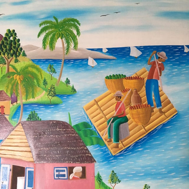 Mid-Century Haitian Painting by Raymond Surpris - Image 4 of 6
