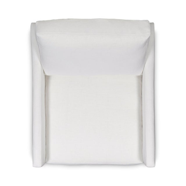 Not Yet Made - Made To Order Moss Home Megan Chair Safari Optic White Linen For Sale - Image 5 of 7