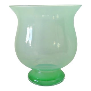 Large Blown Glass Vase For Sale
