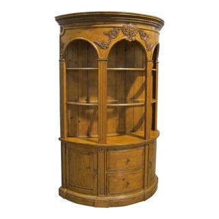 Vintage Sarreid LTD Pine Demilune Cabinet