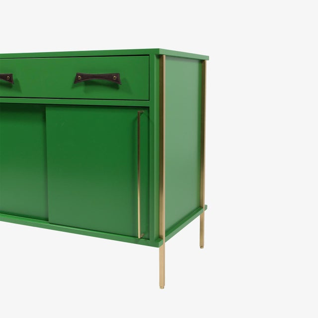 Fine Re 391 Sliding Door Cabinet With Lacquered Case Brass Legs