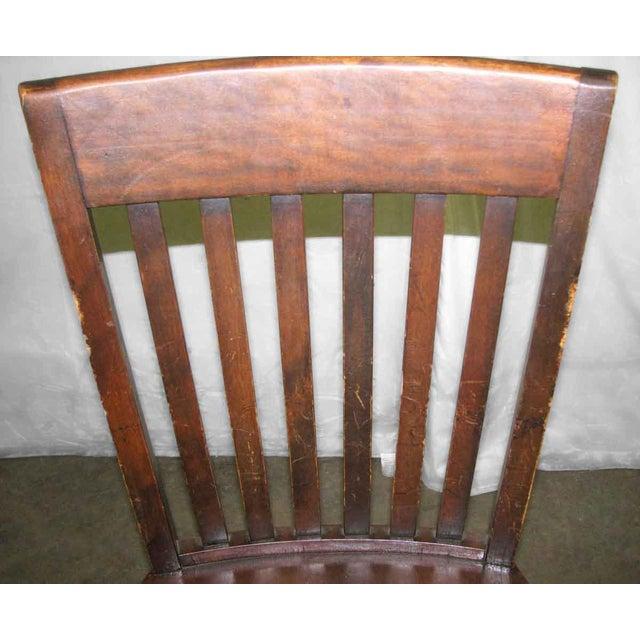 Brown Original Antique Dark Oak Chair For Sale - Image 8 of 9