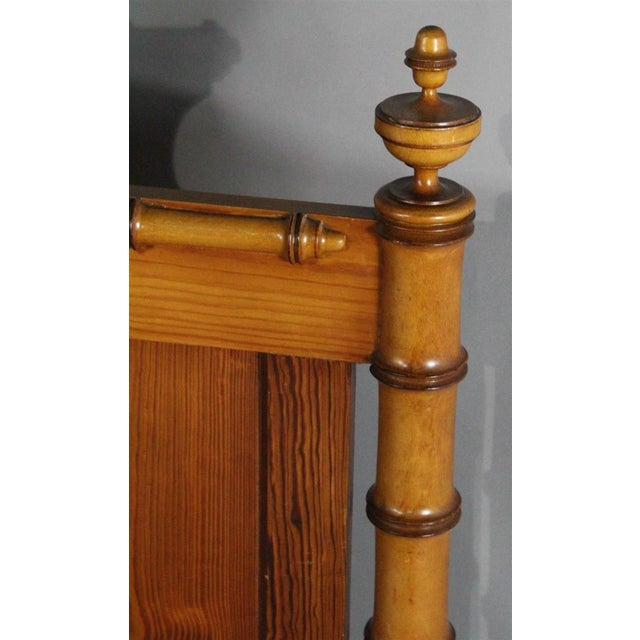 Asian 19th Century Chinoiserie Faux Bamboo 3/4 Bedframe For Sale - Image 3 of 7