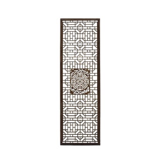Chinese Distressed Geometric Pattern Accent Narrow Floor Panel For Sale